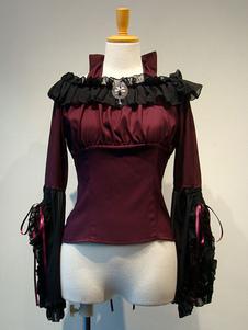 Gothic Lolita Cover Ups Deep Blue Ruffles Chiffon Lolita Outwears