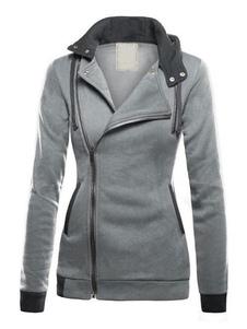 Женская куртка с капюшоном на молнии Уличная куртка на молнии для женщин