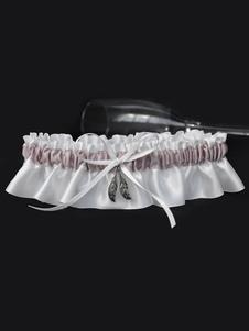 Liga de la boda para la novia Hermosos detalles de metal de poliéster