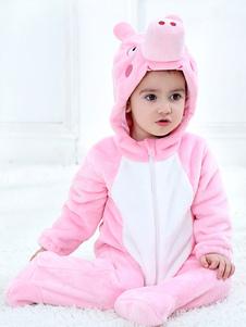 Kigurumi Пижамы Onesie с розовым поросенком и мультипликационным комбинезоном для малышей