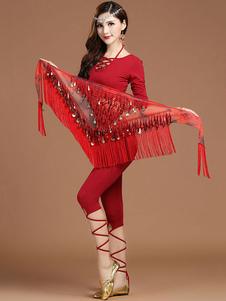 A dança do ventre calça o desgaste da dança da lantejoula para mulheres