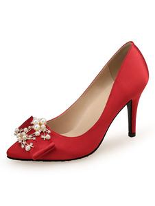 Женщины атласная вечерняя обувь туфли на высоких каблуках для торжественных случаев