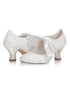 أحذية الزفاف خمر جولة تو أحذية هريرة كعب الزفاف