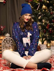 Costume Carnevale Brutti maglioni natalizi Dark Navy Christmas Pattern Costumi per le feste delle donne