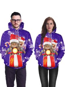 هوديي عيد الميلاد للجنسين طباعة طويلة الأكمام القبيحة عيد الميلاد سترة عطلات ازياء