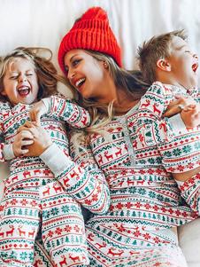 عيد الميلاد بيجامة عيد الميلاد طباعة 2 قطعة مجموعة ملابس النوم الأسرة