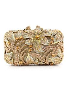 Вечерние клатчи горный хрусталь кристалл желе магнитная застежка свадебная сумка