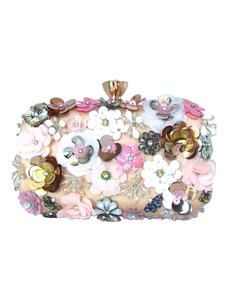Вечерние сумки-клатчи из бисера с шипами и цветочным принтом