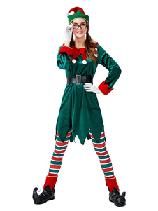 تعيين المرأة عيد الميلاد عيد الميلاد العفريت الأخضر ازياء العيد