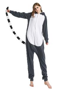 Disfraz Carnaval Kigurumi Onesie Pijamas Lemur Mono de franela de dibujos animados Disfraces de Kigurumi Carnaval