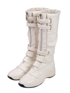 أعجوبة المنتقمون تأثيري الأحذية الارملة السوداء تأثيري الدافئة الأبيض بو الجلود تأثيري أحذية