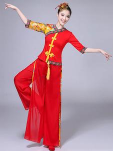Красные китайские костюмы Хорошие карнавальные костюмы Тан костюм