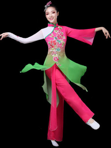 Trajes de dança tradicional chinesa trajes de carnaval asiático 2 peça Outfit