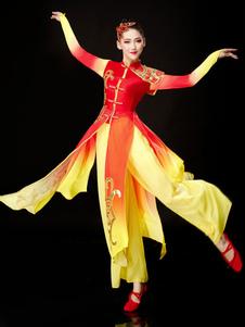 Trajes chineses para mulheres Trajes de dança tradicional Trajes de festas de carnaval
