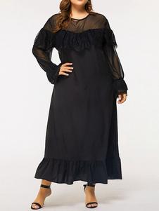 Ropa de talla grande para mujer Vestido negro
