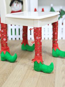 غطاء الساق كرسي عيد الميلاد الطرف الديكور الطباعة