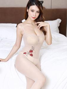 Чулочно-носочные изделия нижнего белья для женщин Чулочно-носочные изделия с цветочным принтом Нейлоновые цветы