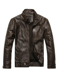 Leather Jacket Bomber For Men