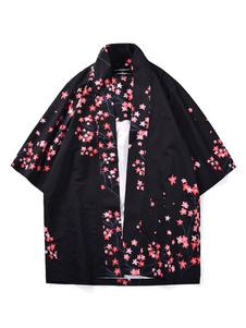 Costume Carnevale Vacanze Costumi di Uomini costume asiatico kimono nero Top Pattern per adulti