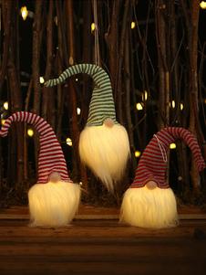 زينة عيد الميلاد حلي الشريط دمية إضاءة LED زخرفة عيد الميلاد الطرف