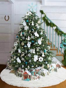عيد الميلاد الطرف الديكور الترتر ندفة الثلج فروي بطانية عيد الميلاد الأبيض