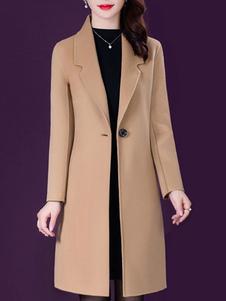 معطف للمعطف أزرار امرأة V الرقبة كلاسيكي الطبقات الجمل الشتاء