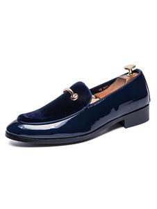 Мужская бездельниковая металлическая обувь