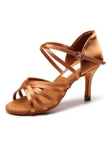 Zapatos de baile latino para mujer Sandalias de salsa para salón de baile