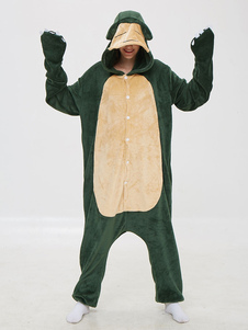 Snorlax Kigurumi Pijamas Onesie Anime Cartoon Green Flannel Jumpsuit Kigurumi Disfraces Carnaval