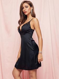 Bodycon vestidos pretos 3/4 comprimento mangas de renda Bohemian Correias Pescoço Backless Slim Fit Vestido Bainha