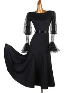 Trajes de baile de salón Vestido de tul negro Vestido de baile