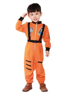 Карнавал Детский Апельсин Астронавт Косплей Комбинезон Полиэстер Детский Косплей Костюмы