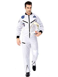 Trajes de astronauta de carnaval Halloween Sexy Costume Jumpsuit Hat Two Pieces Costumes