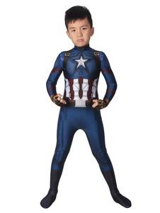 Capitão América Cosplay Vingadores Steve Rogers Filme Azul Profundo Lycra Spandex Catsuits Zentai Marvel Comics