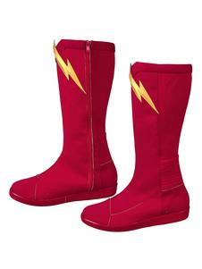 O Flash Cosplay Barry Allen Ture Sapatos Vermelhos DC Comics Sapatos Cosplay