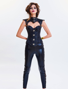 Costume Carnevale Steampunk Halloween Costume Corsetto Donna senza spalline Cincher Top Jacquard Waist Trainer