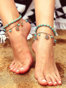 Boho Anklet Bracelet Beaded Flower Beach Jewelry