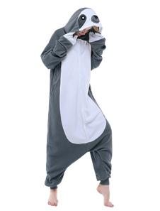 Pijama Kigurumi Sloth Onesie Adultos Franela Unisex Ropa de dormir Animal Disfraz Halloween