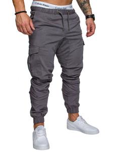 Pantalón de Camuflaje para Hombre 2020 con Bolsillo Cordón Ajustable Estrecho Jogger