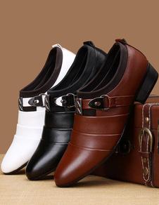 اصبع القدم بو الجلود اللباس أحذية للرجال