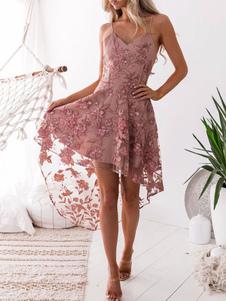 فستان سهرة زهري فستان سهرة مطرز