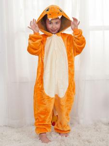 Dinosaurio Onesie Pijamas Kigurumi Charizard Naranja Invierno Ropa de dormir Mascota Animal Disfraz de Halloween