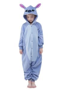 Disfraz Carnaval Pijama Kigurumi puntada mono para niños azul sintético mono Navidad traje de mascota Halloween Carnaval