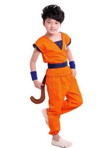 Costume Carnevale per Bambini 2020 Costume Cosplay di Dragon Ball Son Goku Costume Carnevale