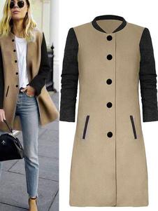 Cappotto colletto da donna con due bottoni