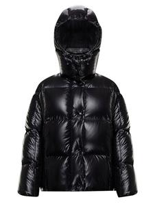Puffer Jacket preto acolchoado casaco acolchoado Outwear feminino para o inverno