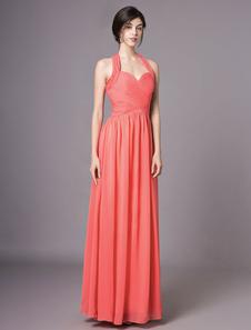 Коралловые платья для подружек невесты