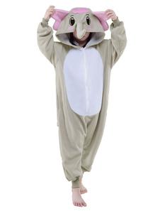 Disfraz Carnaval Pijama Kigurumi 2020 Elefante Mono Childrens de Franela Animal Mono Pijama Disfraz de Halloween Carnaval