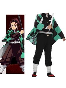 Costume Carnevale Costume Cosplay 2020 Verde Demon Slayer Kimetsu No Yaiba Cosplay Kamando Tanjirou  Costume Carnevale