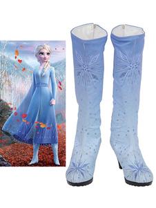 Светло-Голубой Косплей Замороженные Эльза Обувь Блестки Косплей Обувь